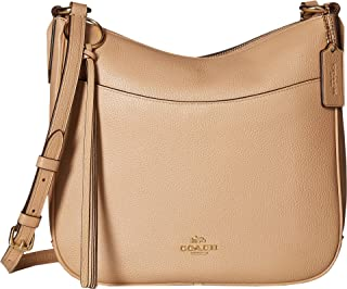 COACH Women's Polished Pebble Leather Chaise Crossbody Beechwood/Gold One Size