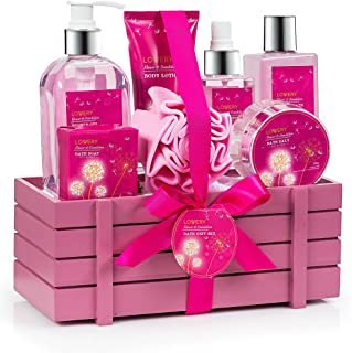 Gift Baskets for Women, Lovery Spa Gift Set for Her, 1 Bath & Body Gifts for Women, Mother's Day Gifts - Luxury Flower Dandelion 8 Piece Set, Best Gift Ideas for Her, Great Wedding & Anniversary Gift