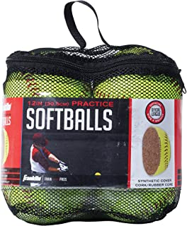 Franklin Sports Practice Softballs - Official Size and Weight Softball - Perfect For Softball Practice - Available in 1 and 4 Pack - 12 Inch Pack of 6