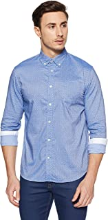 Celio Men's Solid Regular Fit Cotton Casual Shirt
