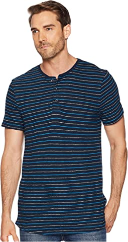 Short Sleeve Grindle Stripe Henley