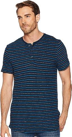 Short Sleeve Grindle Stripe Henley