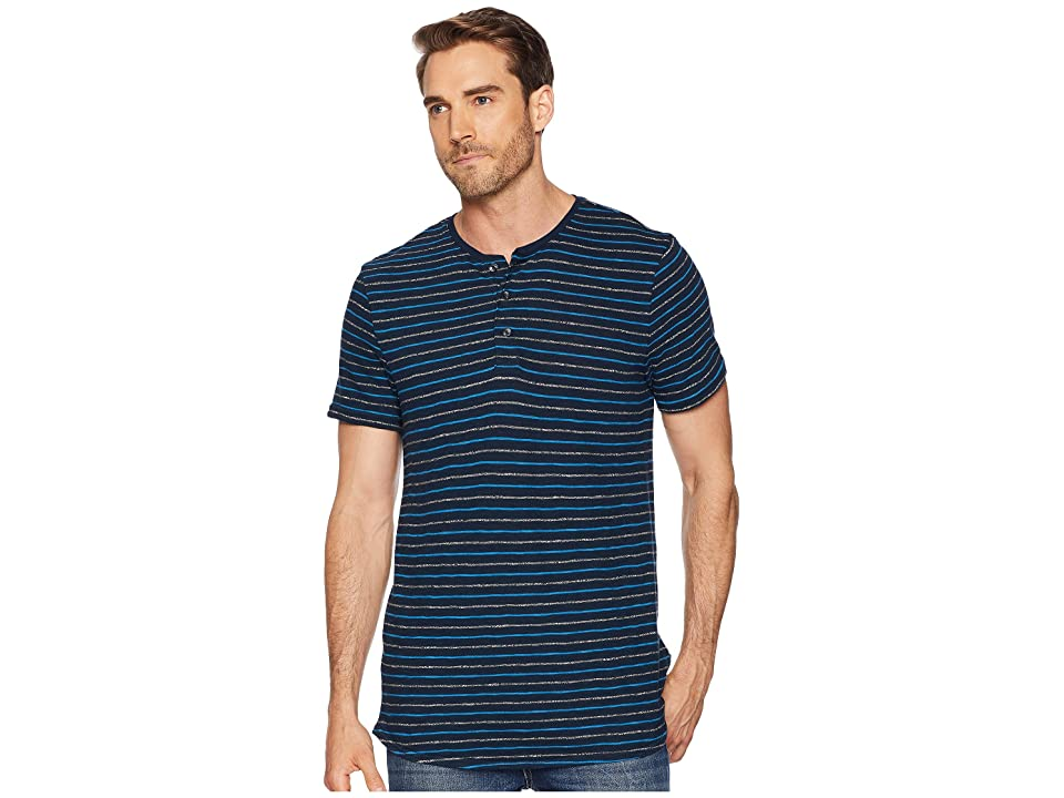 6867fe2b9fc2 Calvin Klein Jeans Short Sleeve Grindle Stripe Henley (Sky Captain) Men