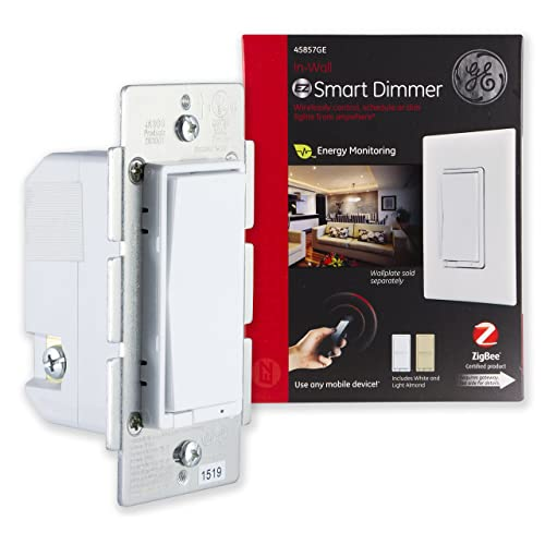 GE ZigBee Smart Lighting Control Dimmer, in-Wall, LED & CFL Compatible,