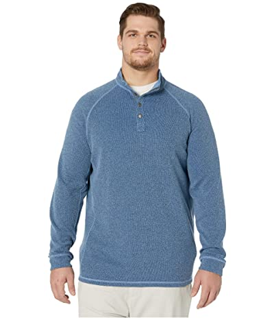 Tommy Bahama Big & Tall Palm Canyon Flip 1/4 Snap Sweater (Bengal Blue) Men