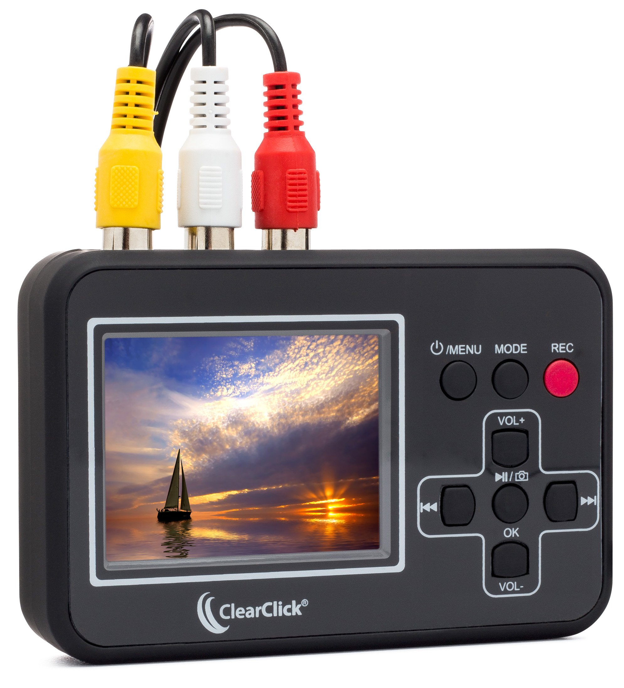 Amazon Com Clearclick Video To Digital Converter Capture Video From Vcr S Vhs Tapes Hi8 Camcorder Dvd Gaming Systems Electronics