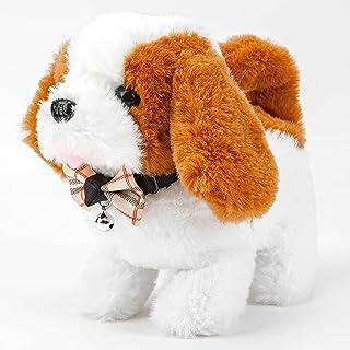 سگ الکترونیکی ، اسباب بازی سگ مخمل خواب دار ، راه رفتن ، پارس سگ ، اسباب بازی سگ تعاملی واقع بینانه 7 اینچ هدیه برای کودکان