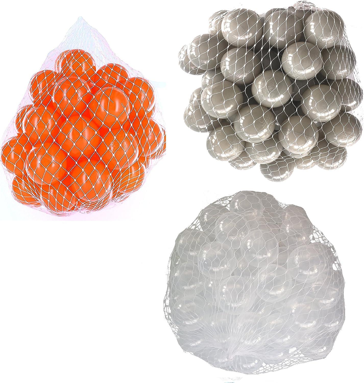 venta con descuento Pelotas para pelotas baño variadas Mix con con con transparente, gris y naranja Talla 2100 Stück  ventas en linea