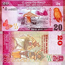 Nice1159 20 Rupees SRI Lanka Banknote World Paper Money UNC Currency p123c Year 2015 - Rare for Collector
