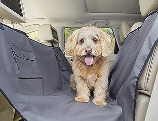 PetSafe Happy Ride Hundedecke Auto Rückbank, Hängematte Sitzbankabdeckung, Hundedecke Rücksitze Auto, Sicherer Transport, Waschmaschinenfest, für Auto, SUV und LKW, 142cm x 145 cm, beige, grau