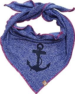 95/% Baumwolle handmade K/äfer Karl Streifen//uni blau Dreieckstuch Halstuch 5/% Elasthan