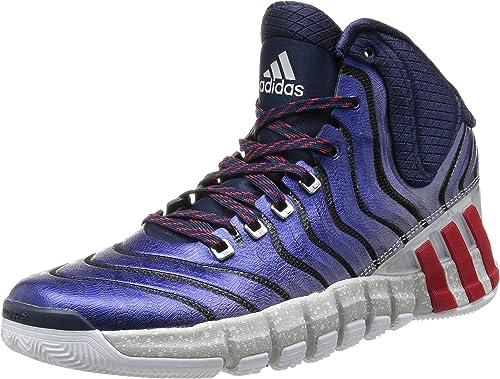 Adidas Adipure Crazyquick 2.0, Hausschuhe de Baloncesto para Hombre, Collegiate Navy Light Scarlet Running Weiß, 48 EU