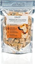 All Natural Freeze Dried Salmon Dog Treats – with Omega 3 and Omega 6 Fish Oil – by IM K9 – 100% Pure Fish with Skin – Glu...