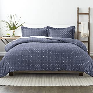 Simply Soft 3 Piece Wheat Pattern Duvet Cover Set Queen blue SS-DUV-POK-QUEEN-NA