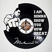 Muhammad Ali - Boxer - Vinyl Wall Clock - Poster - Sticker - Get unique living room wall decor - Gift idea for friends, teens, men and women, girls and boys - Unique Art Design Gifts