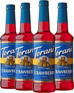 Torani Sugar Free Syrup, Strawberry, 25.4 Ounces (Pack of 4)