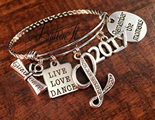 SENIOR night, GRADUATE, Graduation gift, SENIOR 2019, senior gifts, Class of 2019, Sports, soccer, softball, cheer, dance, Bangle bracelet, charm bracelet,Volleyball gifts, Senior night,