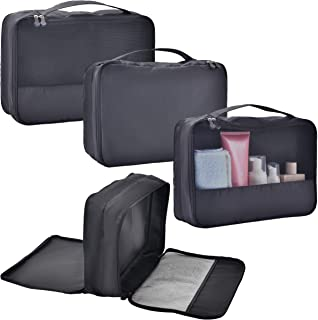 Packing Cubes for Travel Suitcase Organizers Luggage Cubes Clothes Dual Compartment Double sided Bags Set Accessories Wate...