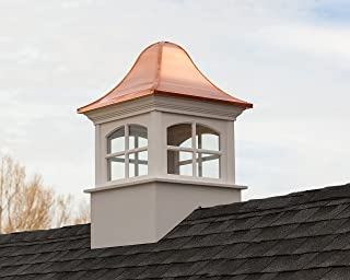 """Good Directions Greenwich Vinyl Cupola with Copper Roof, 26"""" X 41"""""""