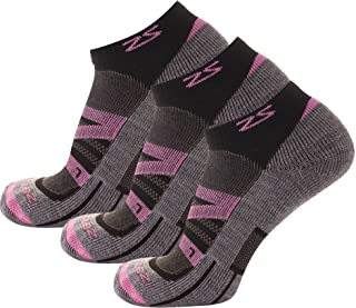 Zensah Wool Running Socks - Soft Cushioned Merino Wool, Moisture Wicking, Anti-Blister - Athletic Socks, Trail Socks