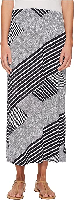 Tribal - Printed Jersey Maxi Skirt with Side Slit
