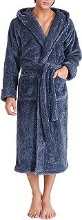 Men's Soft Fleece Plush Robe Full Length Long and Knee Length Big and Tall Bathrobe