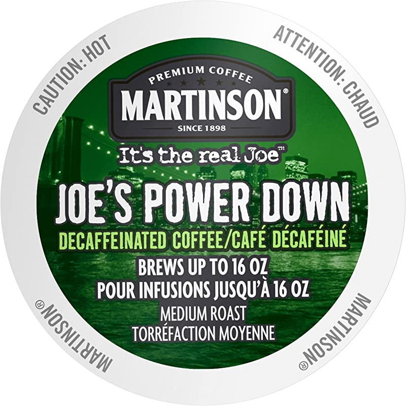 Martinson Single Serve Coffee Capsules Joe S Power Down Decaf 24 Count