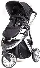 Muv Baby Trend Gaan Stroller, Artic Silver/Mystic Black