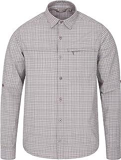 Mountain Warehouse Adventure II Mens Shirt - 100% Cotton Summer Shirt, Lightweight Casual Top, Zipped Pocket, Breathable -...