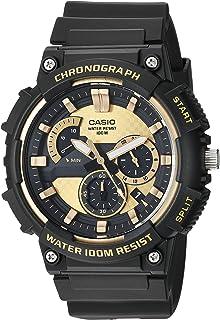 Men's Retrograde Quartz Watch with Resin Strap, Black, 20 (Model: MCW-200H-9AVCF)