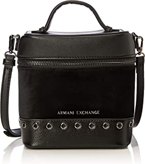dd1ad525dd Armani Exchange - Cross-body Bag, Bolsos bandolera Mujer, Negro (Nero)