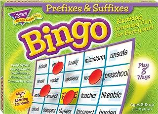 Trend Enterprises Inc. Prefixes & Suffixes Bingo Game