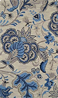 FH Home Indoor Wool Rug | Hand-Tufted Pure Indian Wool by Expert Weavers | Provides Comfort and Beauty for Everyday Use | Lendale - Blue (7 feet 6 inch x 9 feet 6 inch)
