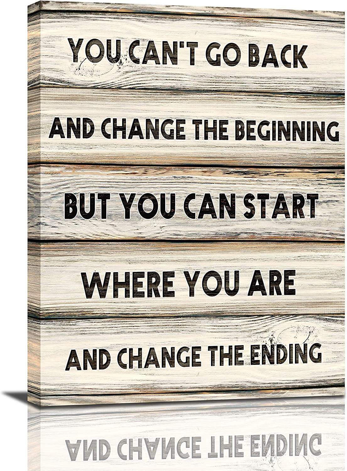 Inspirational Quotes Wall Art You Can'T Go Back Motivational Motto Canvas Print Wall Decor For Office Women Framed Modern Artwork Painting Home Decoration For Living Room Bedroom 12x16inch