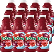 Tropicana Cranberry Juice, 32 oz Bottles, 12 Count