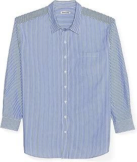 Men's Big & Tall Long-Sleeve Stripe Casual Poplin Shirt fit by DXL