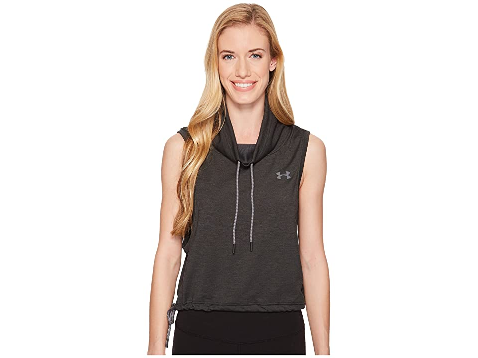 Under Armour Featherweight Fleece Sleeveless Funnel Neck (Black/Black/Graphite) Women