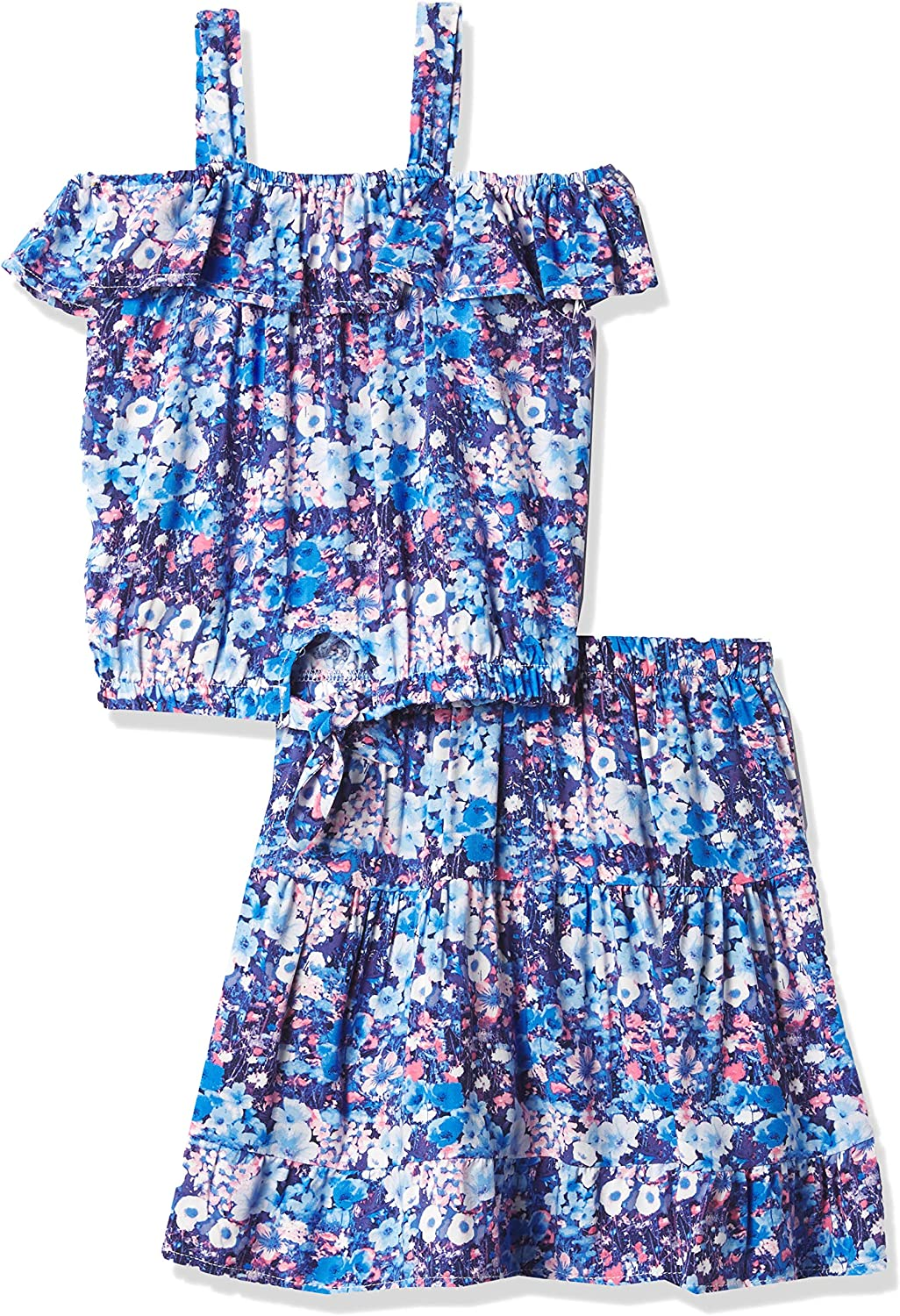 Speechless girls Flowy Top and Skirt Set: Clothing, Shoes & Jewelry