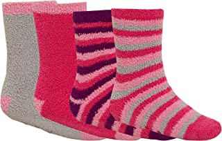Ladies Girls Lazy Jacks Cosy Feather Stripe Loungewear Bedsock Socks 3 Pair Pack