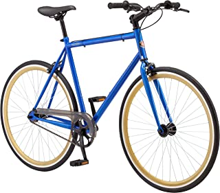 Schwinn Kedzie Single-Speed Fixie Bike, Featuring 58cm/Large Steel Stand-Over Frame with 700c Wheels and Flip-Flop Hub, Perfect for Urban Commuting and City Riding, Comes in Blue or Matte Red