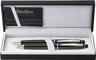 Scrikss Noble 35 Tükenmez Kalem&Versatil Kalem Takım Siyah Krom