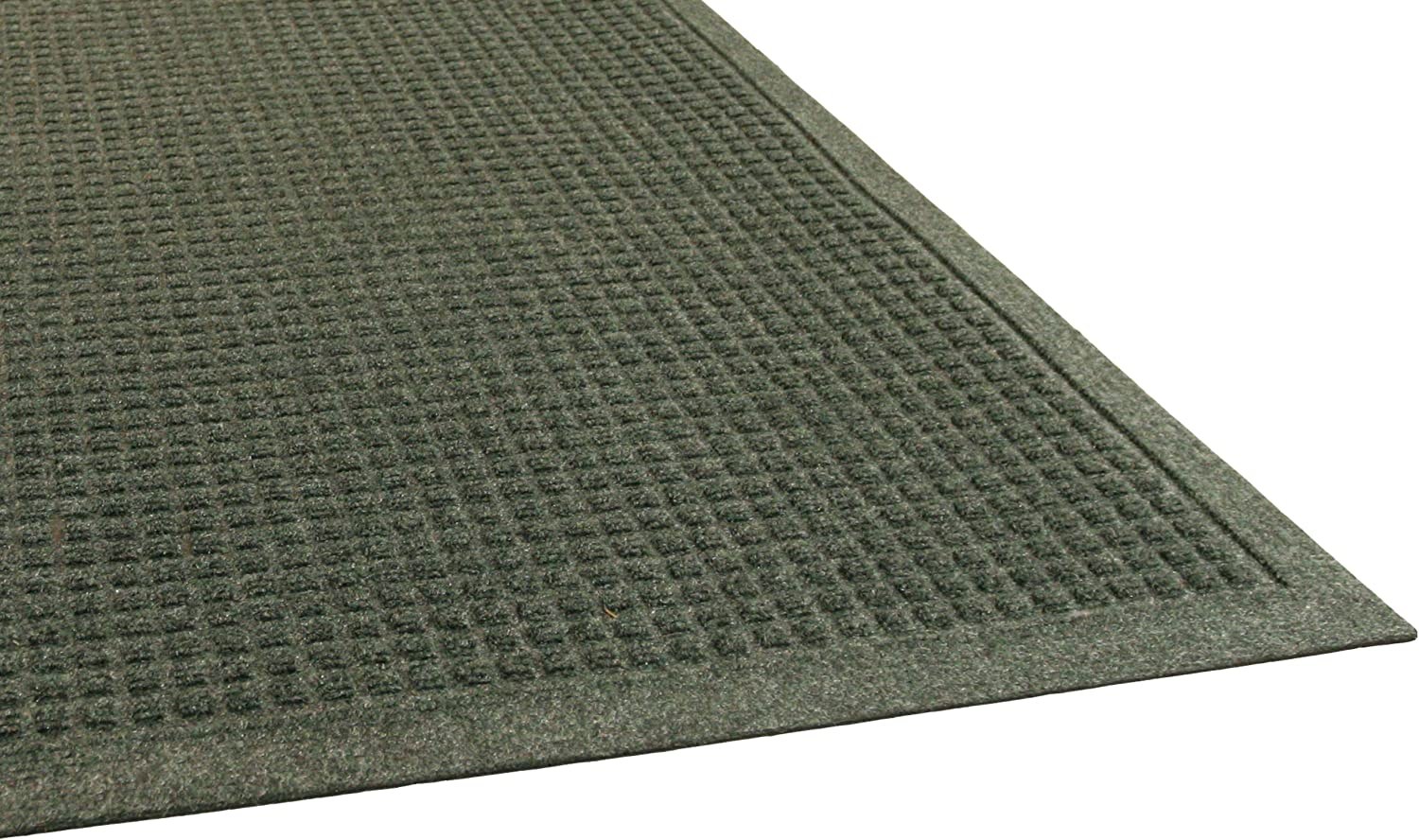 EcoGuard Indoor Wiper Floor Mat, Recycled Plactic and Rubber, 3' x 4', Green, 1