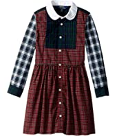Polo Ralph Lauren Kids - Tartan Cotton Shirtdress (Little Kids)
