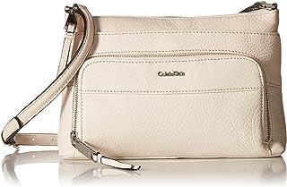 Calvin Klein Top Zip Pebble Leather Crossbody