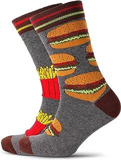 Mitch Dowd Men's Burger & Fries Odd Socks