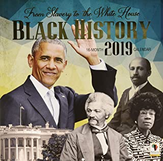 Black Cards WC165 from Slavery to The White House 2018 Wall Calendar, Brown
