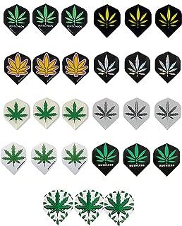 6 sets (18 pieces) of Pot Leaf Marijuana Standard Size Dart Flights - Assorted Designs