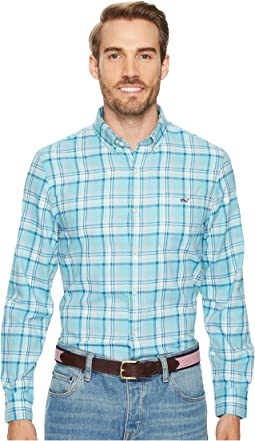 Vineyard Vines - Loblolly Performance Plaid Flannel Slim Tucker Shirt