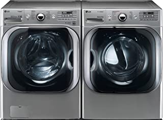LG Graphite Steel Front Load Laundry Pair with WM8100HVA 29