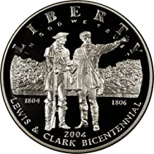 2004 P Lewis and Clark Bicentennial Commemorative Proof Silver Dollar DCAM US Mint